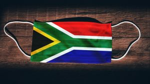 South African flag on mask
